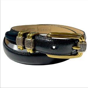 Brighton Classics Snakeskin Print Leather Belt